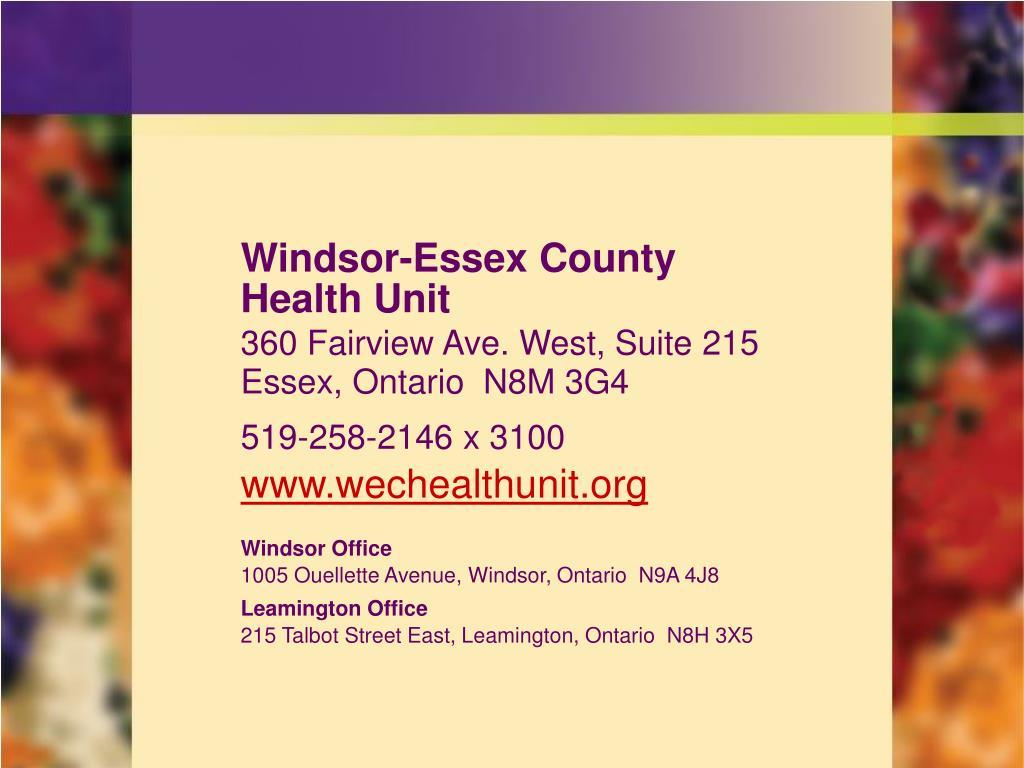 Windsor-Essex County