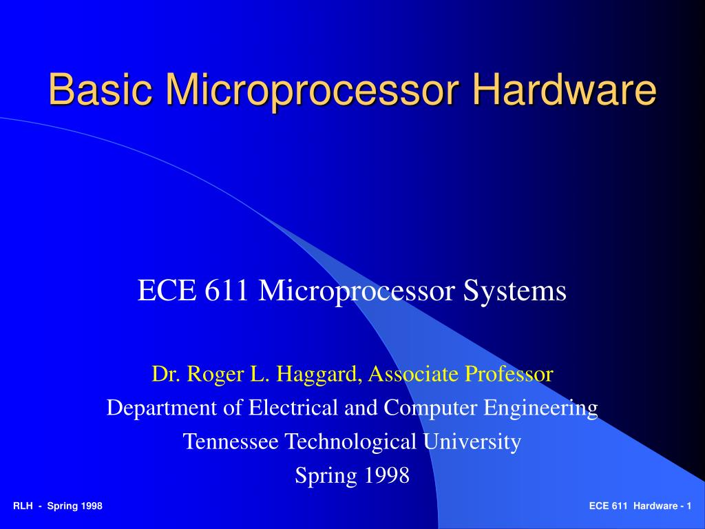 basic microprocessor hardware l.