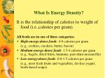 what is energy density