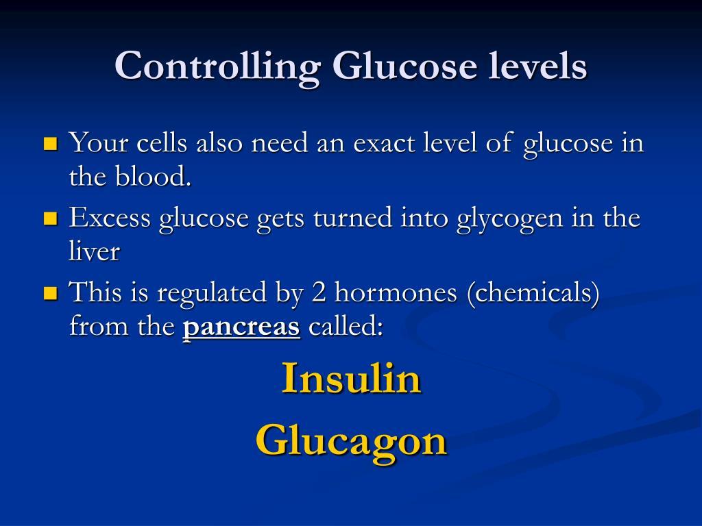 Controlling Glucose levels