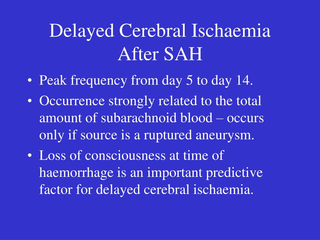 Delayed Cerebral Ischaemia After SAH