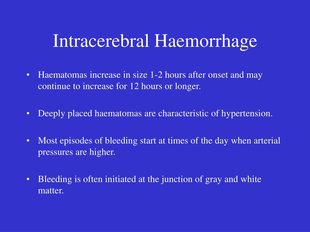 Intracerebral Haemorrhage