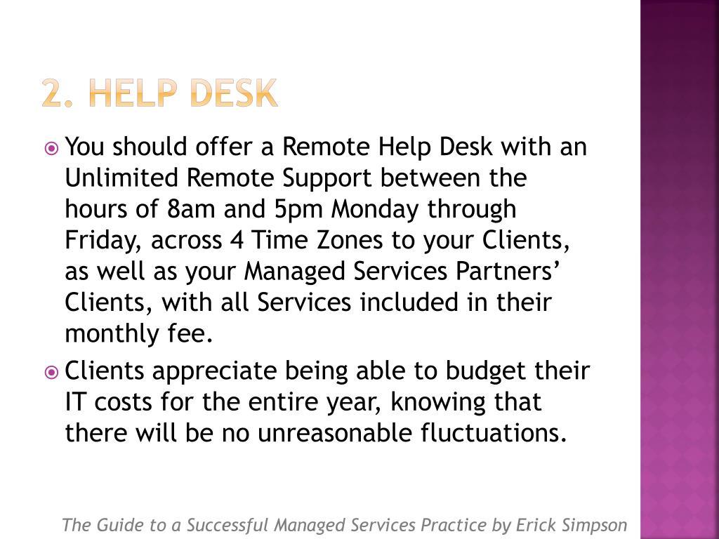2. Help Desk