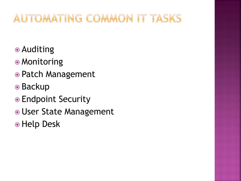 Automating Common IT