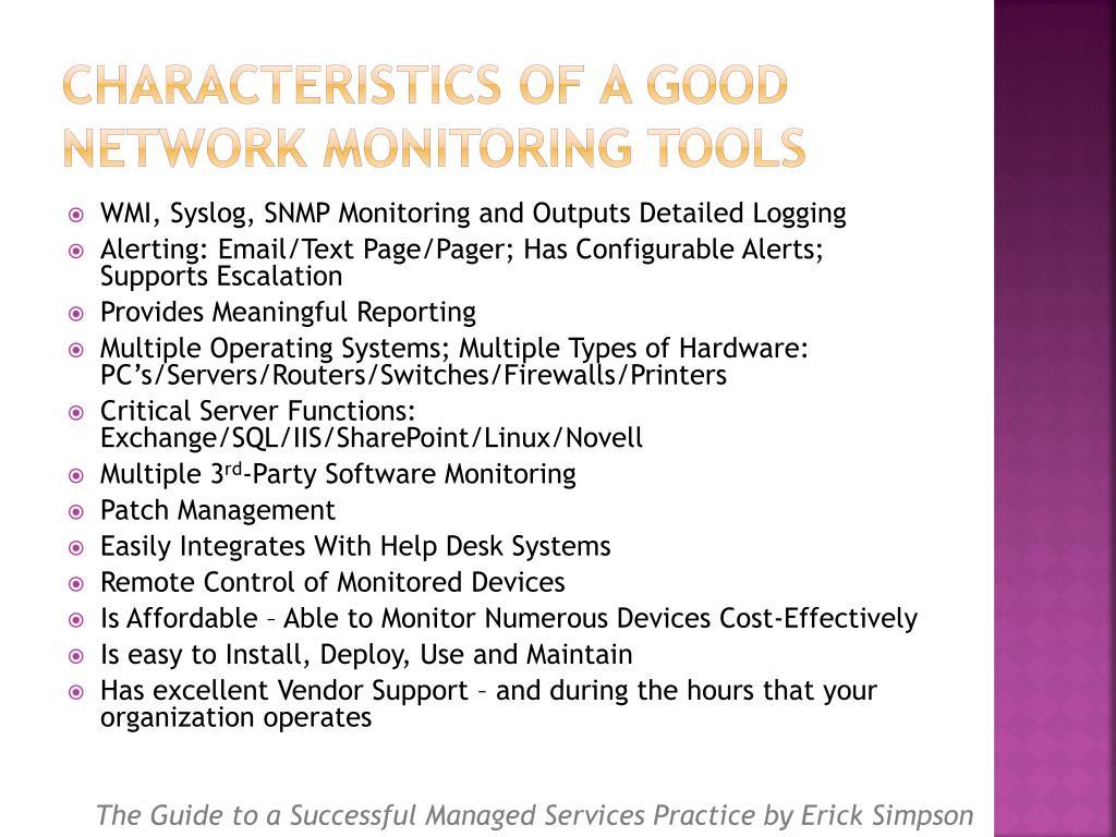 Characteristics of a Good Network Monitoring Tools