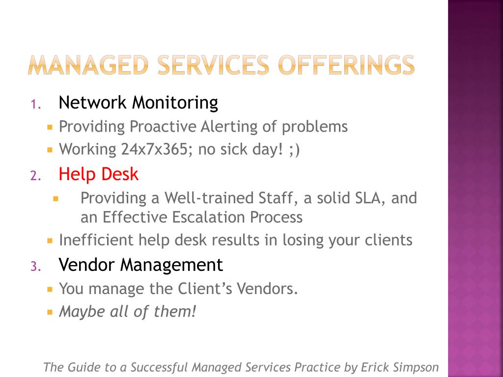 Managed Services Offerings