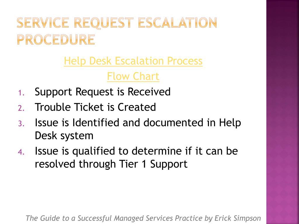 Service Request Escalation Procedure
