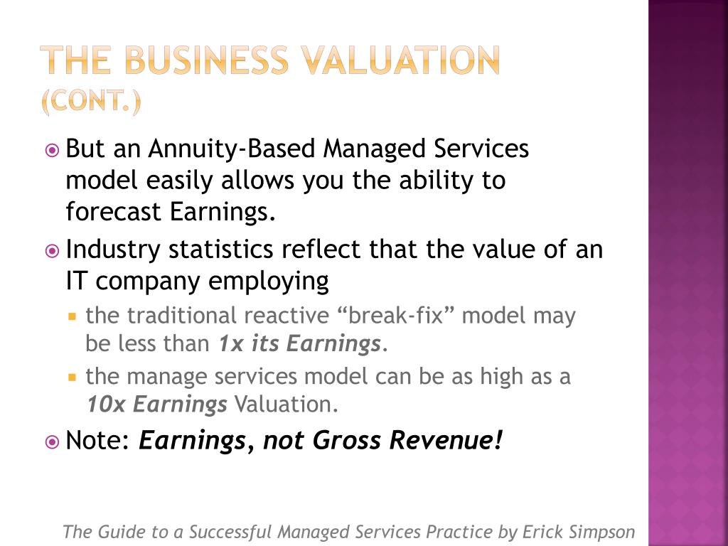 The Business Valuation