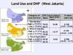 land use and dhf west jakarta