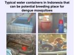typical water containers in indonesia that can be potential breeding place for dengue mosquitoes