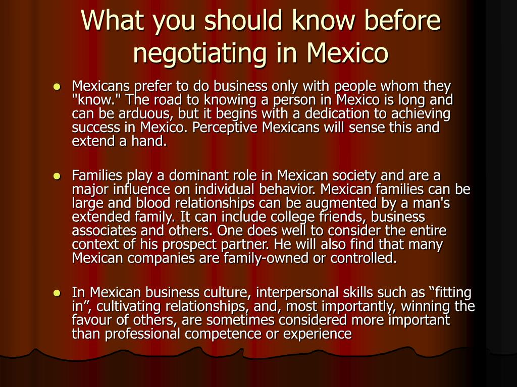 What you should know before negotiating in Mexico