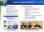 recent actions of imts
