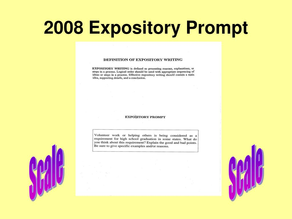 2008 Expository Prompt