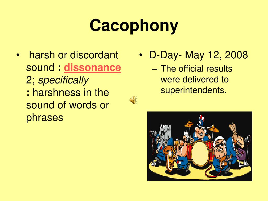 harsh or discordant sound