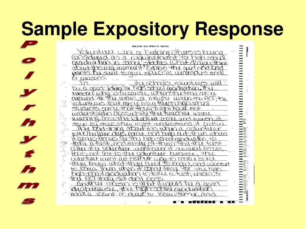 Sample Expository Response