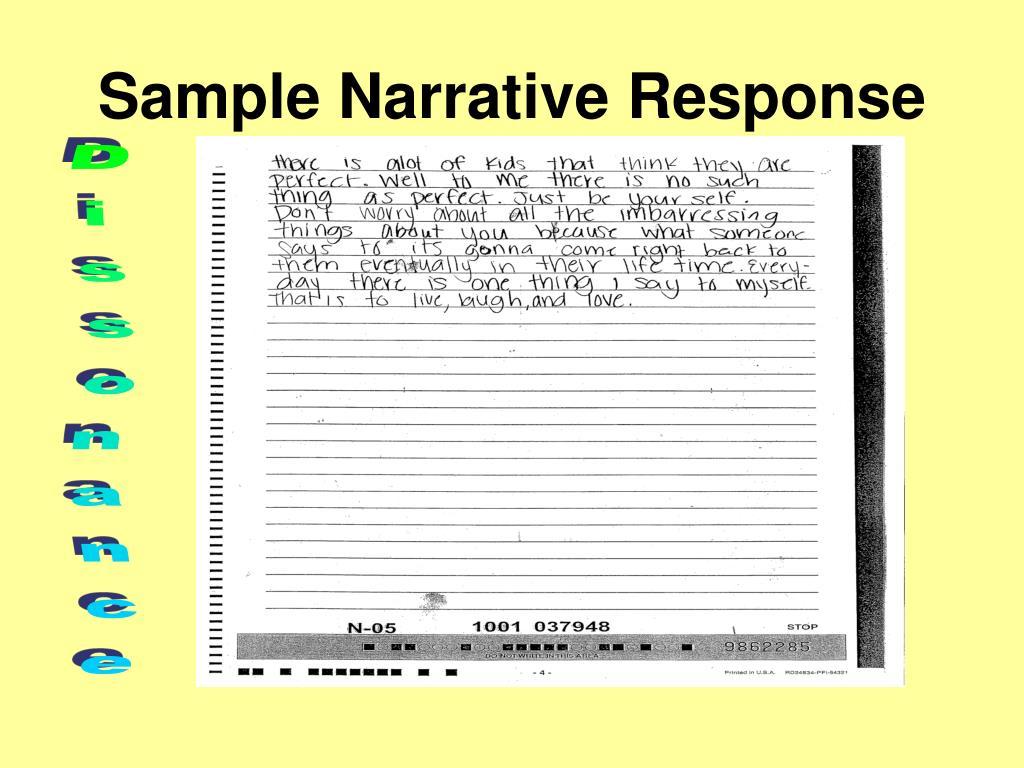 Sample Narrative Response