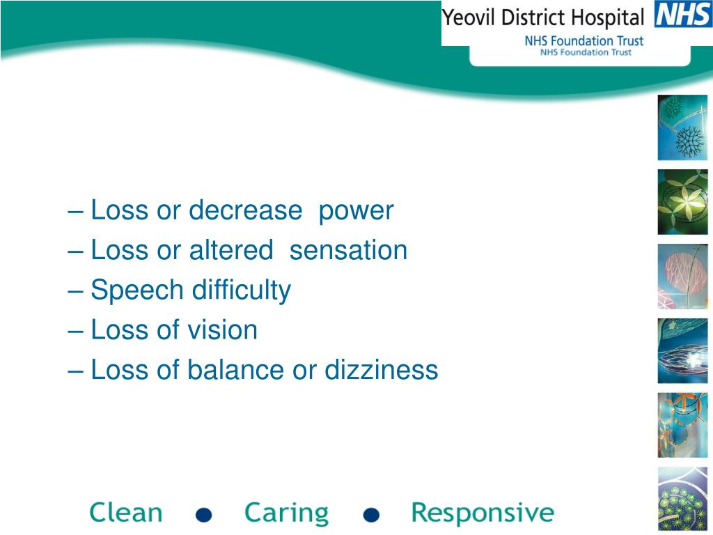 Loss or decrease  power