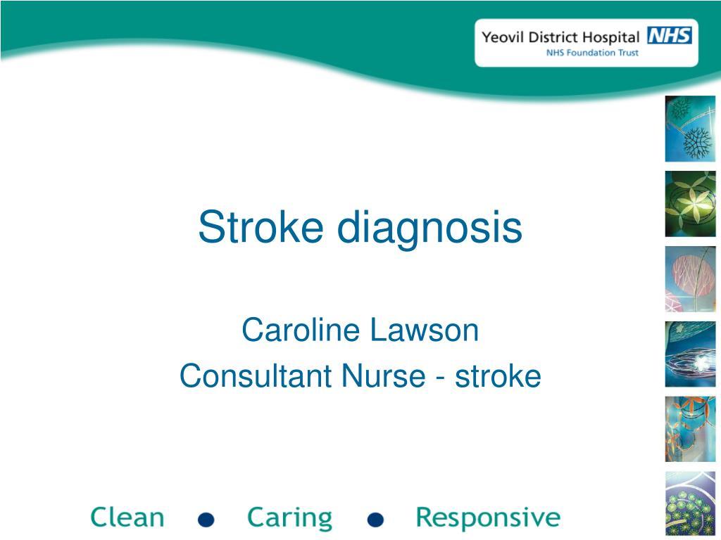 Stroke diagnosis