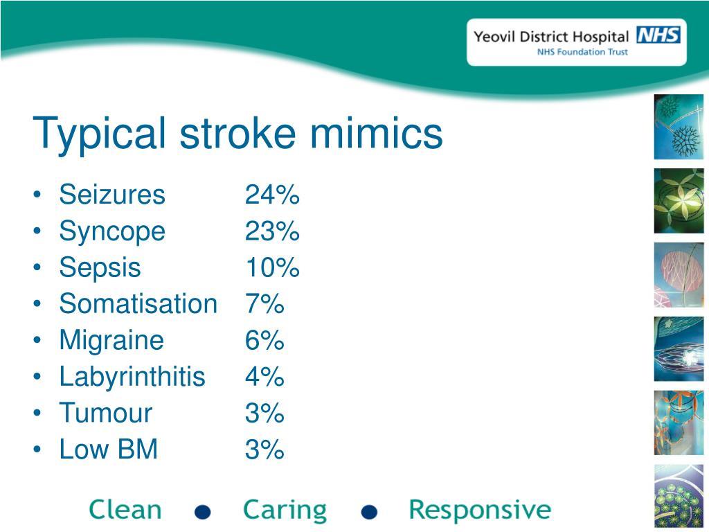 Typical stroke mimics