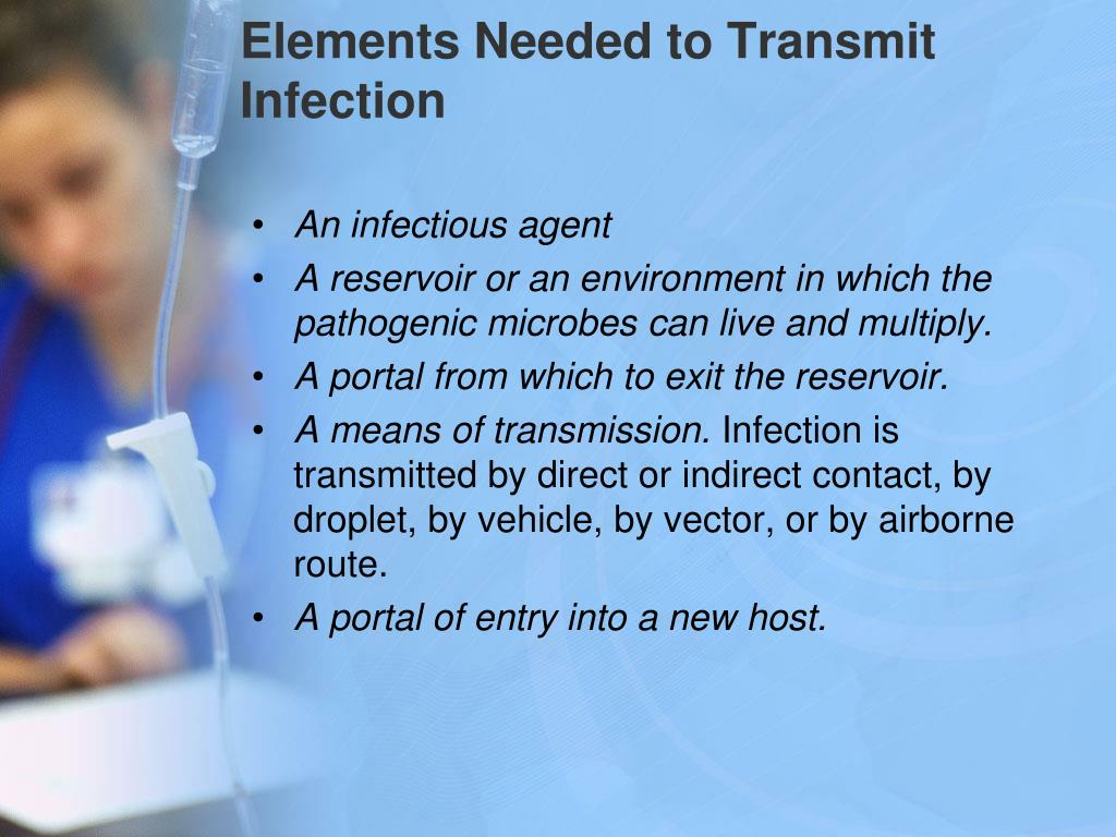 Elements Needed to Transmit Infection