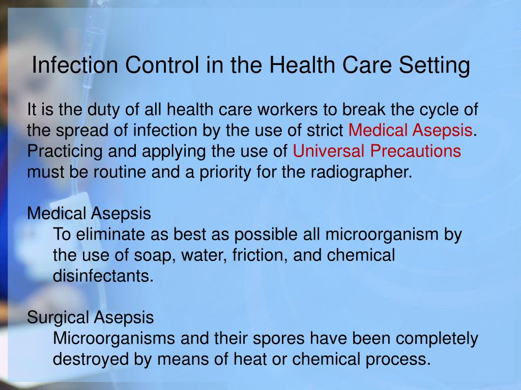 Infection Control in the Health Care Setting