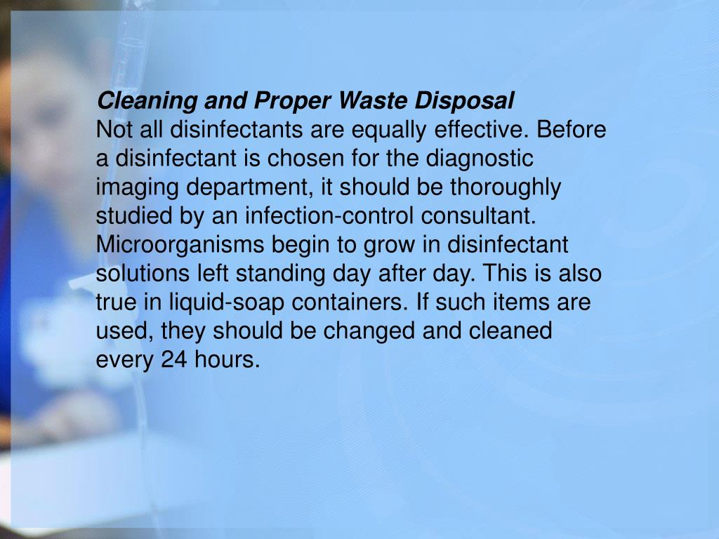 Cleaning and Proper Waste Disposal