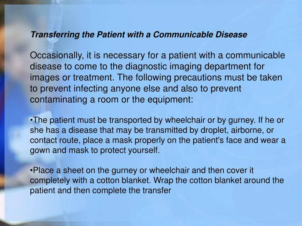 Transferring the Patient with a Communicable Disease