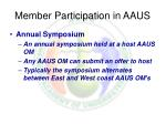 member participation in aaus20