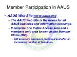 member participation in aaus21