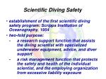 scientific diving safety
