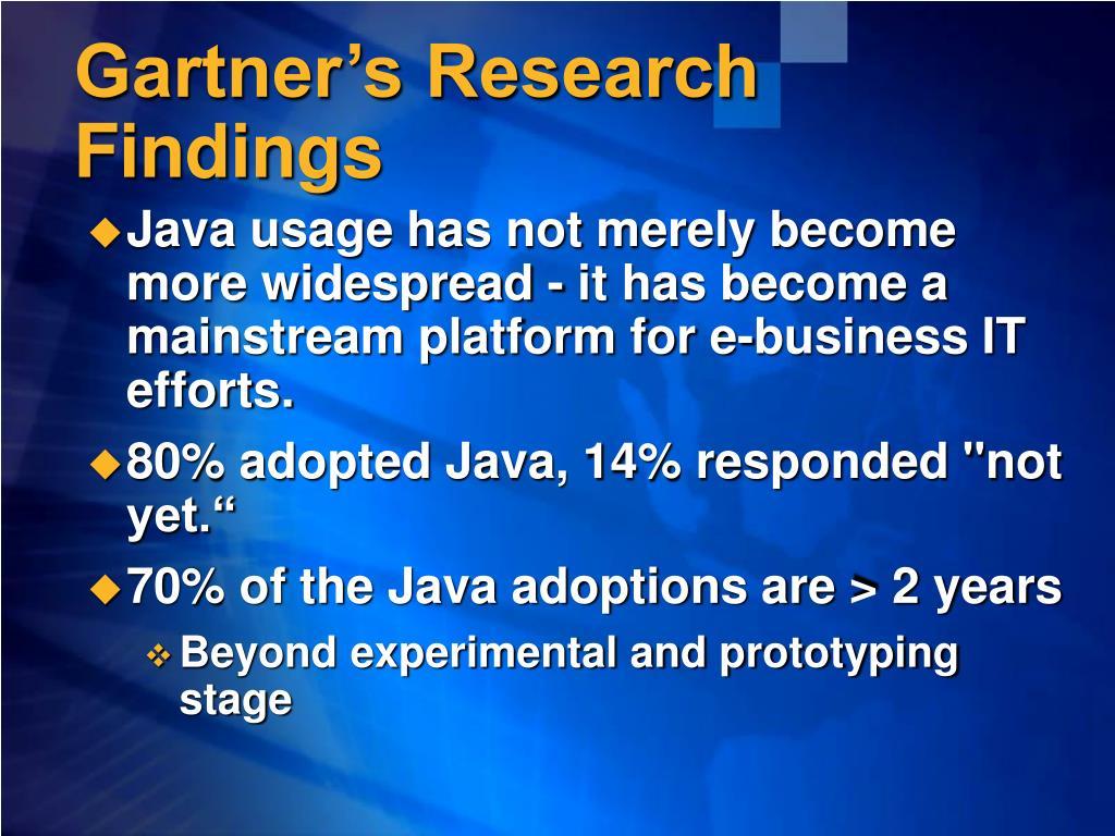 Gartner's Research Findings