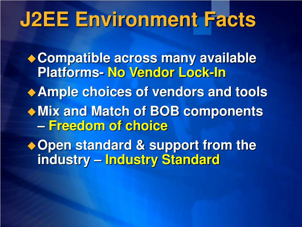 J2EE Environment Facts