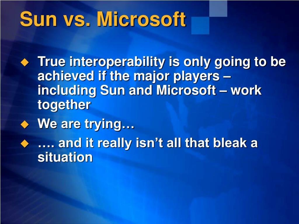 Sun vs. Microsoft