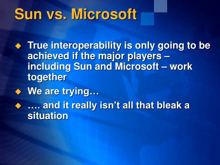 Sun vs microsoft