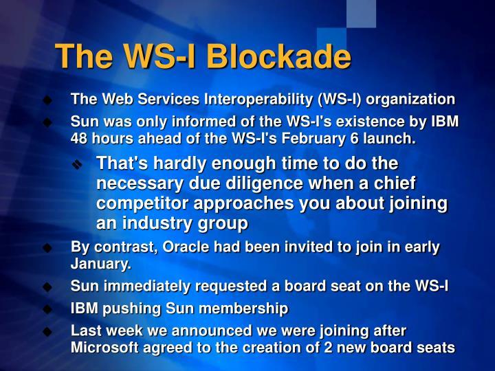 The ws i blockade