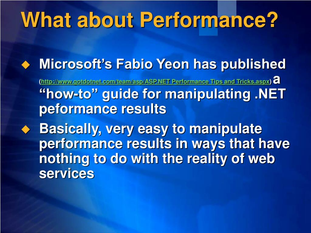 What about Performance?