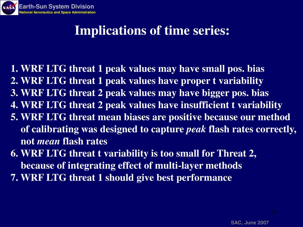 Implications of time series: