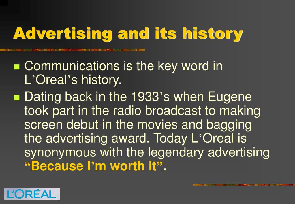 Advertising and its history