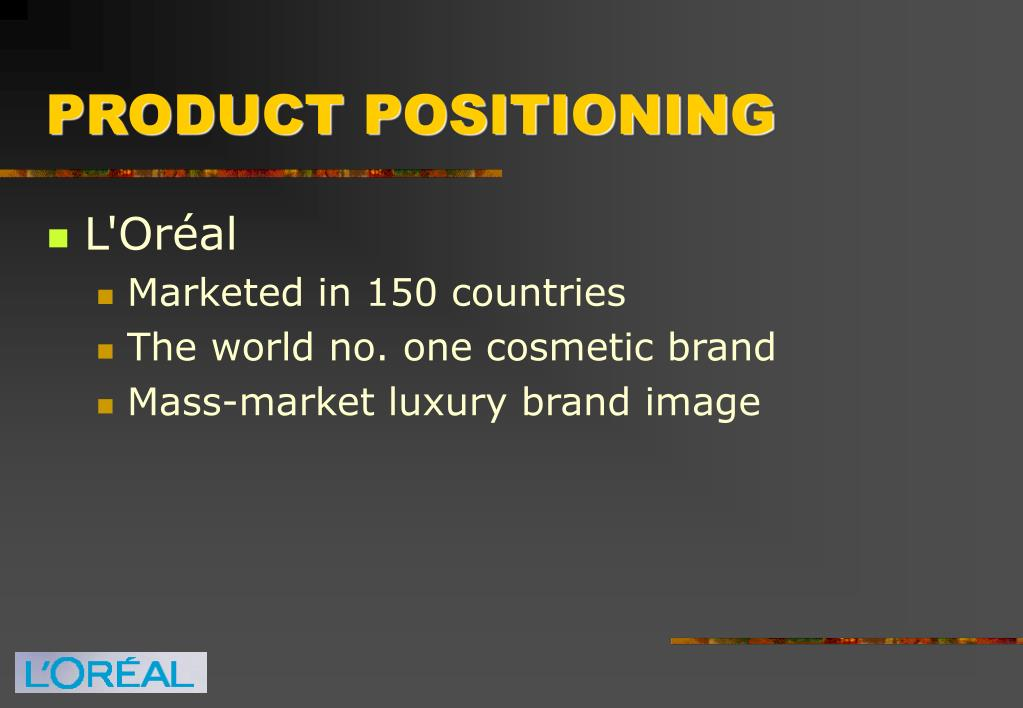 PRODUCT POSITIONING