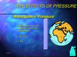 the effects of pressure