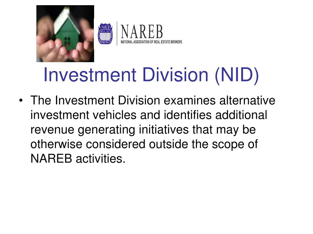 Investment Division (NID)