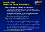 basel 2 pillar 1 risk based capital standards 1
