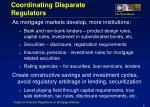 coordinating disparate regulators