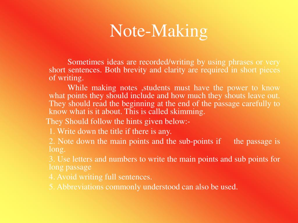 Note-Making
