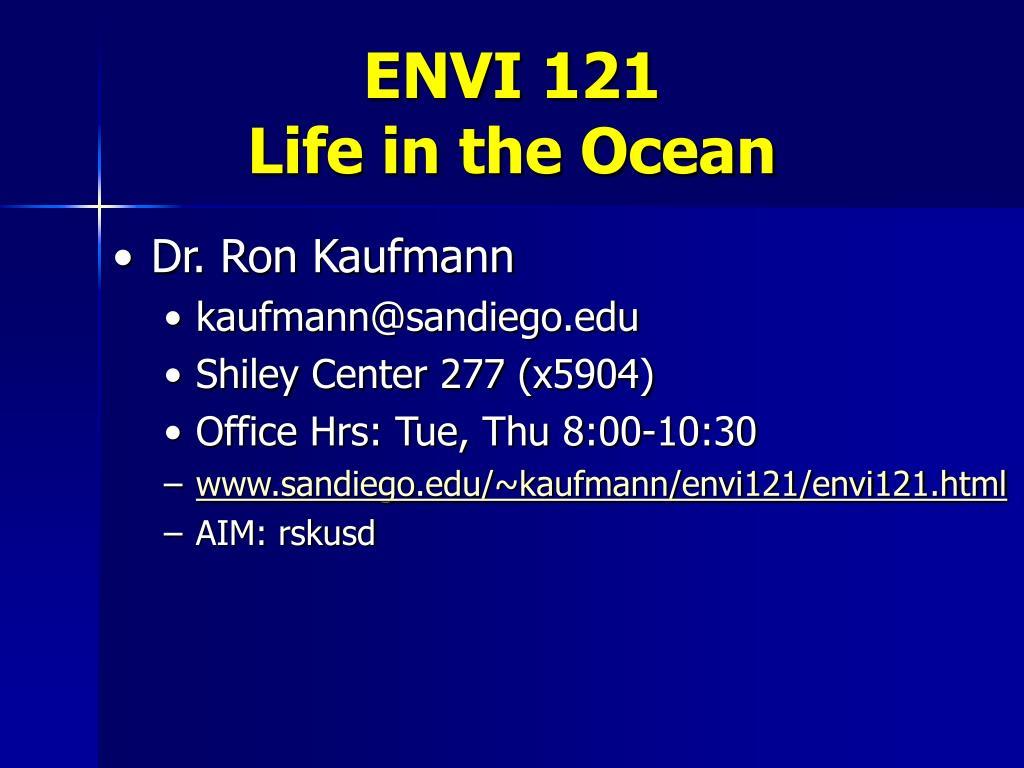 envi 121 life in the ocean l.