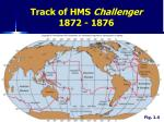 track of hms challenger 1872 1876