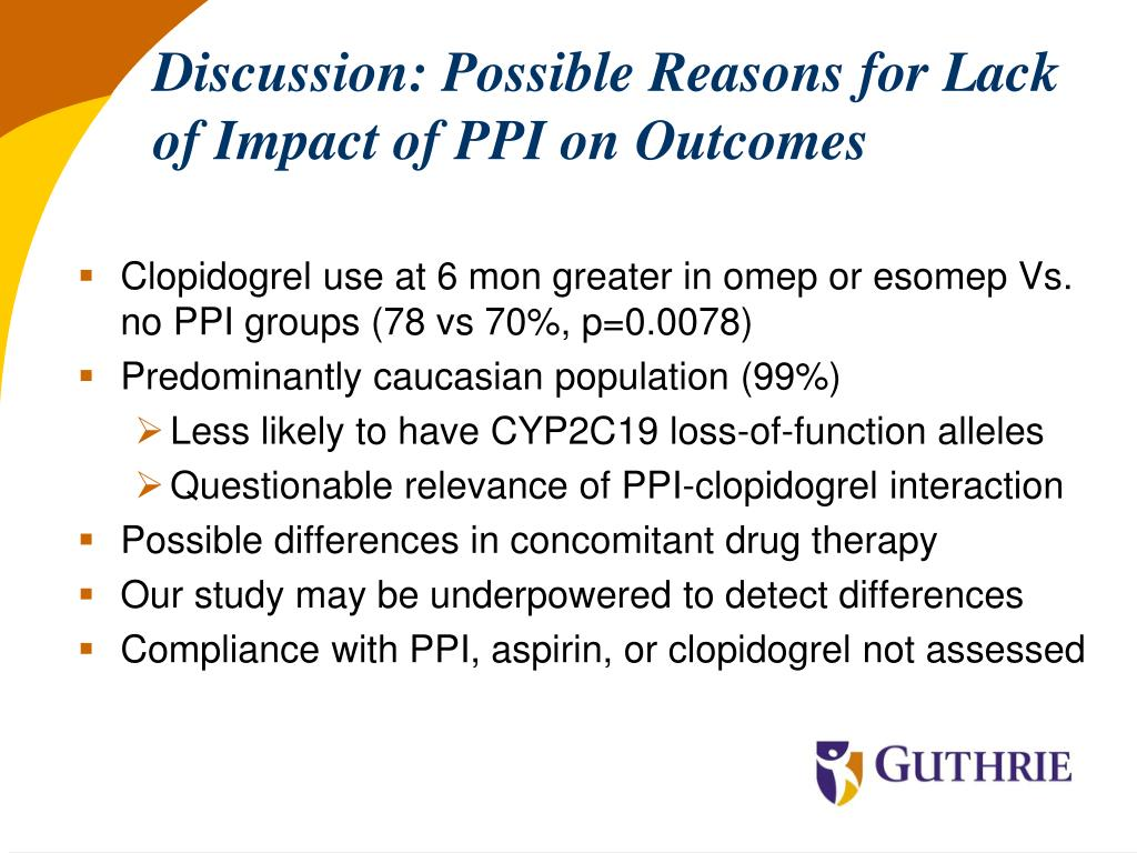 Discussion: Possible Reasons for Lack of Impact of PPI on Outcomes