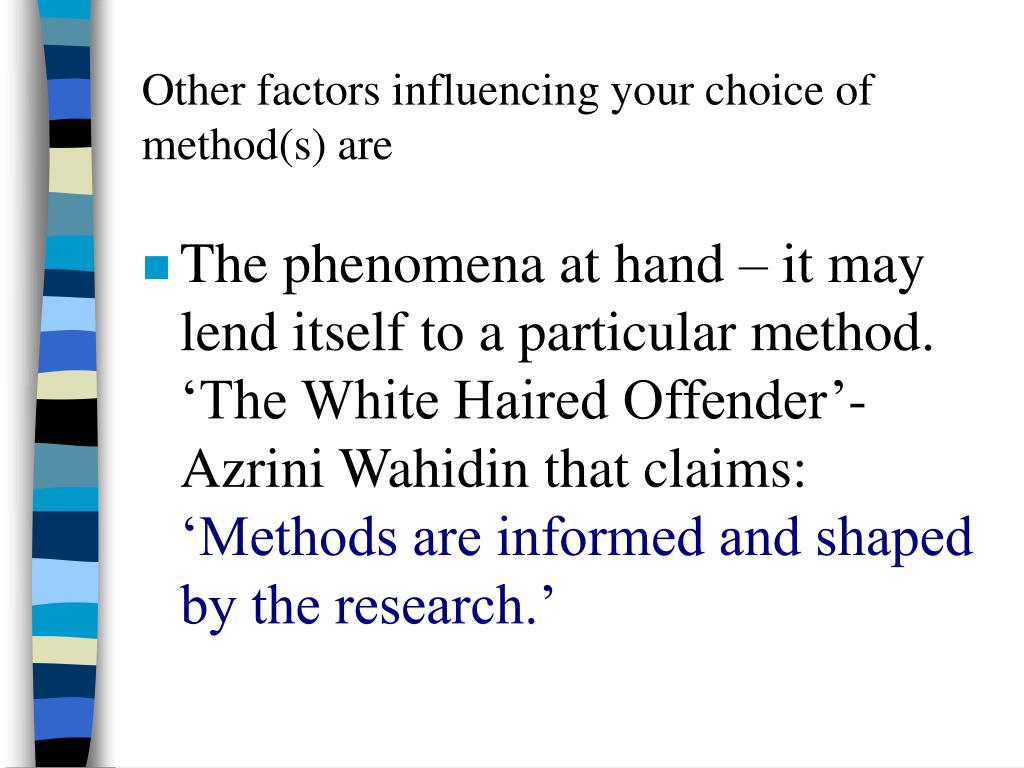 factors influencing the choice of fast