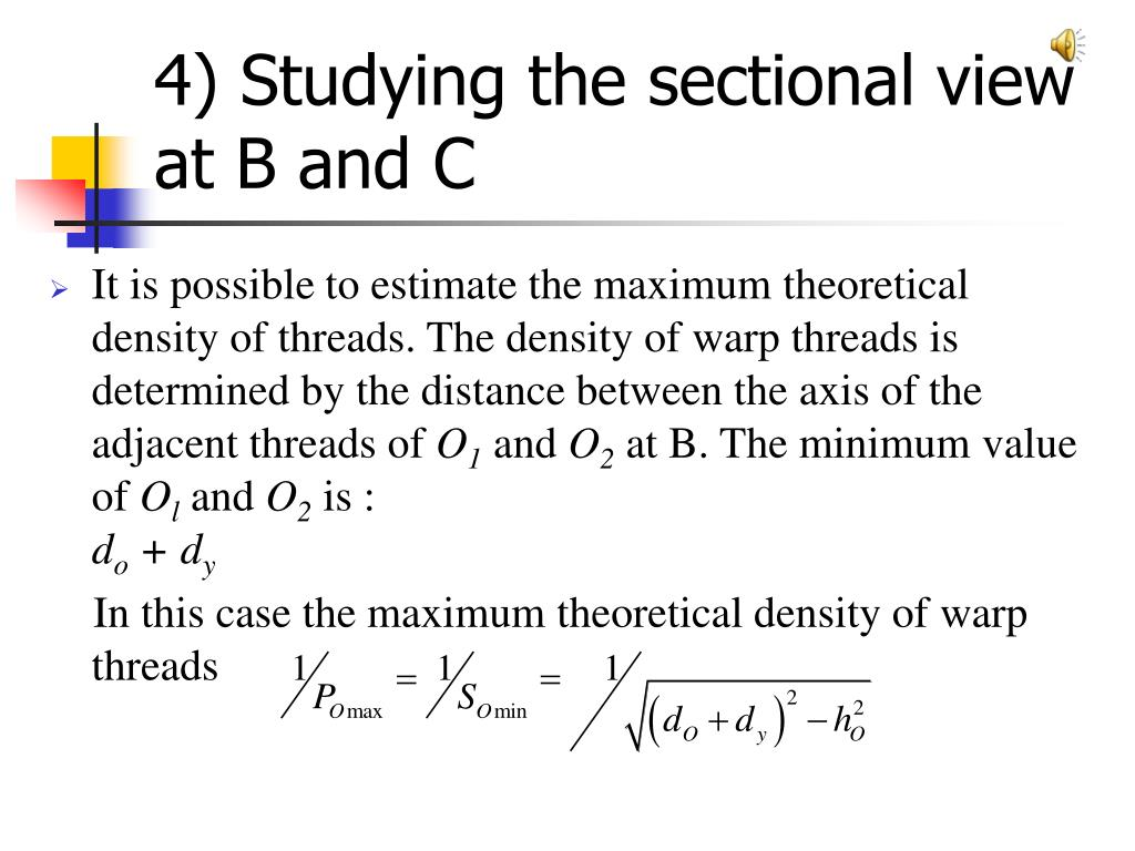 4) Studying the sectional view at B and C