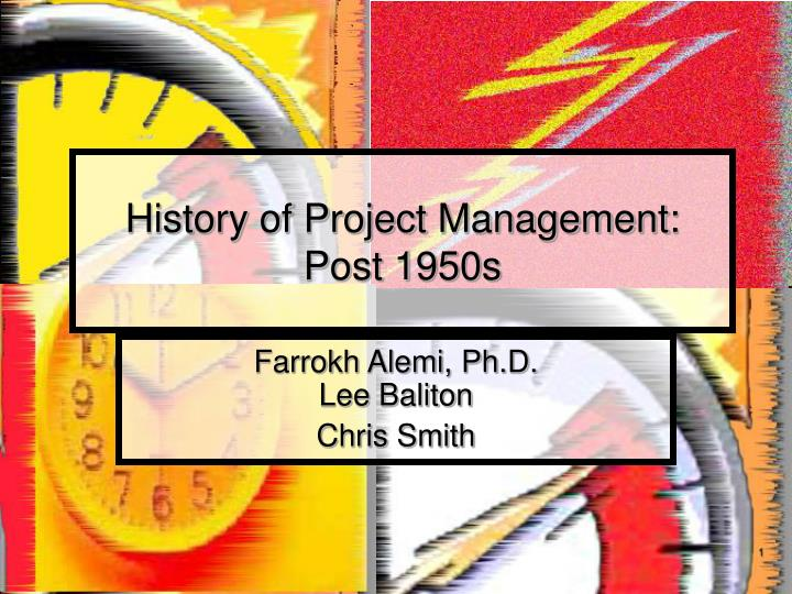 History of project management post 1950s